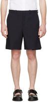Marni Navy Pleated Velcro Shorts