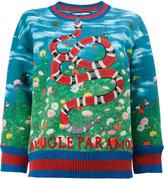 Gucci king snake print sweatshirt - women - Cotton/Polyamide/Spandex/Elastane/Metallic Fibre - S