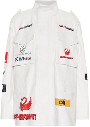 Off-White Off White Logo leather jacket