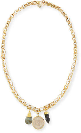 Ashley Pittman Mpenzi Long Triple-Charm Necklace