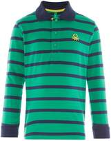 Benetton Boys Thin Striped Polo Shirt