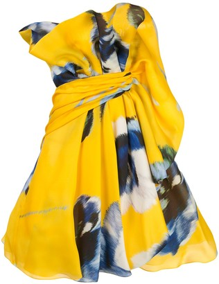Carolina Herrera Tie Waist Dress
