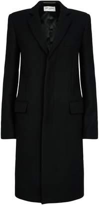 Saint Laurent Wool Single-Breasted Coat