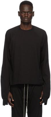 Rick Owens Black Vega Combo Sweatshirt