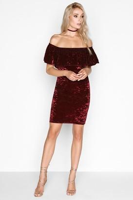 Girls On Film Burgundy Dress