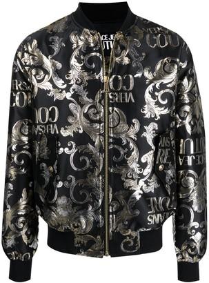 Versace Jeans Couture Logo baroque pattern jacquard jacket