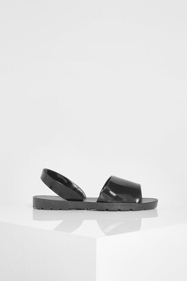 boohoo Jelly 2 Part Sandals