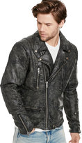 Ralph Lauren Slim Coated Denim Moto Jacket