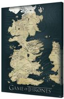 Pyramid America Game of Thrones Map 24-Inch x 36-Inch Canvas Wall Art Collection
