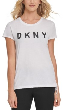 DKNY Cotton Tie-Side Graphic T-Shirt