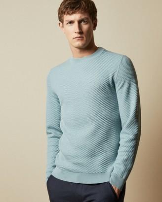 Ted Baker SEER Long sleeved textured crew neck sweater