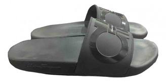 Salvatore Ferragamo Black Rubber Sandals