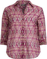 Ralph Lauren Ikat Cotton-Silk Voile Shirt
