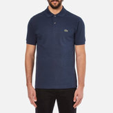 Lacoste Short Sleeve Marl Polo Shirt Dark Blue Chine