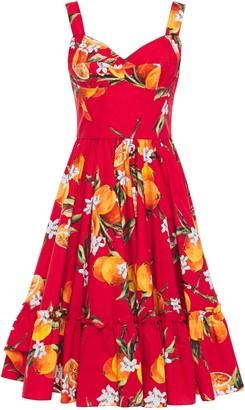 Dolce & Gabbana Ruffled Printed Cotton-blend Poplin Dress