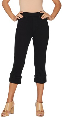 Belle By Kim Gravel Belle by Kim Gravel Flexibelle Pull-On Cuffed Capri Jeans