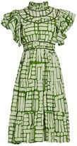 Thumbnail for your product : Busayo Adun Ruffled Highenck Beaded Dress