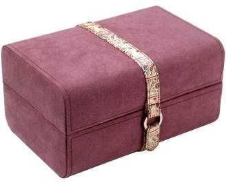 Wolf Amberley Medium Rectangle Suede Leather Jewel Case