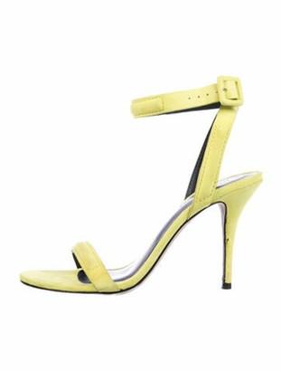 Alexander Wang Suede Slingback Sandals Yellow