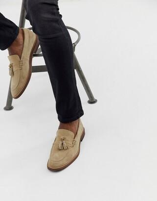 Walk London West loafers in beige suede