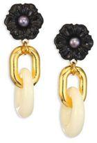 Lizzie Fortunato Black Dahlia Cultured Freshwater Pearl Drop Earrings