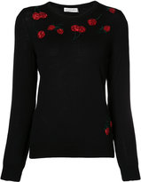 Altuzarra cherry embroidered sweater - women - Merino/Sequin - XS