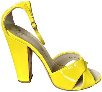 Giuseppe Zanotti Yellow Patent leather Sandals