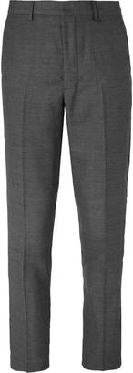Ami Grey Slim-Fit Wool Suit Trousers