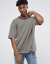 Other UK Oversized Striped T-Shirt With Dropped Sleeves