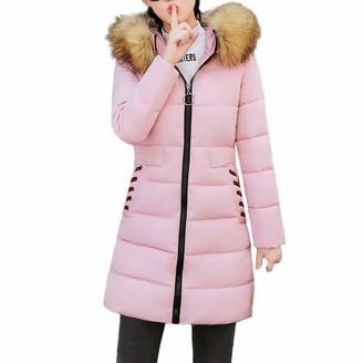 KaloryWee Ladies Winter Coats 2018 Sale Women Winter Warm Coat Hooded Thick Warm Slim Jacket Long Overcoat Black