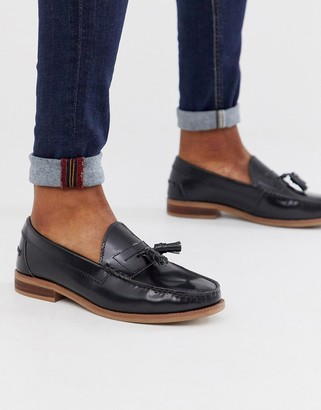 Office liho penny loafers in high shine black