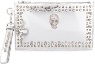 Philipp Plein Crystal Skull Clutch Bag