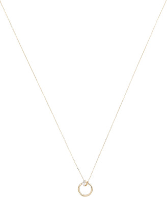 Adina Pave Knot Loop Necklace