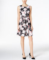 Charter Club Floral-Print Fit & Flare Dress, Only at Macy's