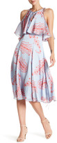 Cynthia Rowley Sleeveless Printed Flounce Midi Dress