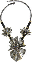Alexis Bittar Two-Tone Crystal-Studded Perennial Punk Bib Necklace, Silver