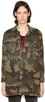 Faith Connexion Camouflage Print Military Canvas Jacket