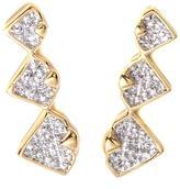 Diamonds Unleashed by Kara Ross Diamond-Accented Vermeil Ear Climber Earrings