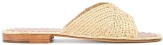 Carrie Forbes Woven Slip-On Sandals