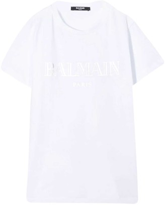 Balmain White T-shirt With Frontal Logo