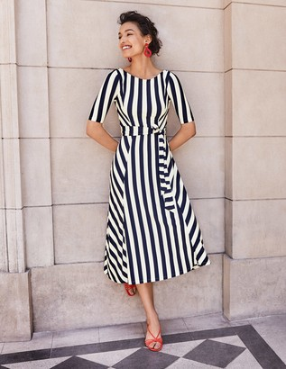 Cleo Belted Jersey Midi Dress