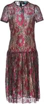 Paule Ka Lurex Floral Lace Short Sleeve Dress