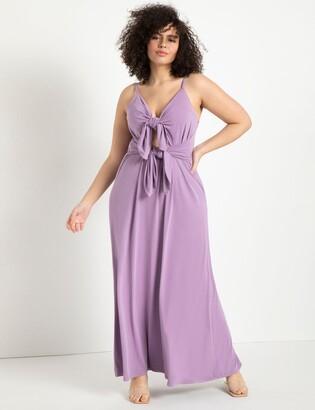 ELOQUII Cutout Tie Detail Dress