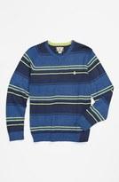 Volcom 'Understated' Stripe V-Neck Sweater (Little Boys & Big Boys)