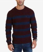 Nautica Men's Breton Striped Crew-Neck Sweater