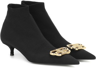 Balenciaga BB Knife stretch-knit ankle boots
