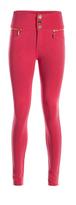 Missy Empire Darsha Coral Skinny Biker Jeans