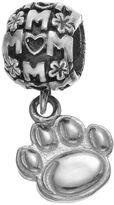 "Dayna U Sterling Silver Penn State Nittany Lions Team Logo ""Mom"" Charm"