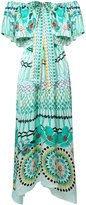Temperley London multi-print off-shoulders dress