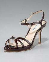 Oscar de la Renta Ankle-Wrap Strappy Sandal